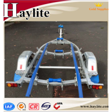 Light-duty small folding boat trailer frame with semi trailer parts