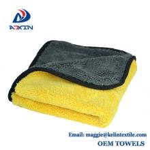 Toalla coralina del paño grueso y suave de la microfibra del paño de la colada de la limpieza rápida del coche con el tamaño / el empaquetado de encargo