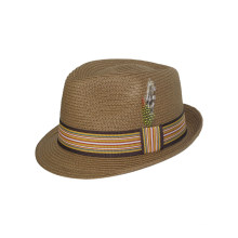 Nuevo sombrero de paja del vaquero de Fedora del diseño con la correa media (FS0003)