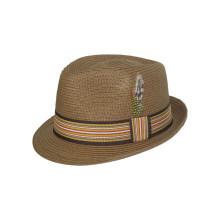 Nouveau chapeau de paille de cowboy Fedora de conception avec ceinture moyenne (FS0003)
