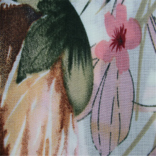 Large flower pattern printed rayon voile