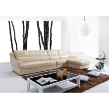 Бежевый кожаный высококачественный диван для гостиной KW353