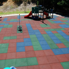 Parque de seguridad Pure Color Rubber Floor