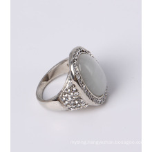 Cheap Price Fashion Jewelry with White Cat Eye and Rhinestones