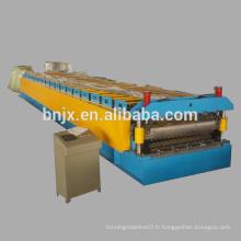 Machine à formage de rouleaux à double couche, Machine de formage de rouleaux de panneaux de paroi à double couche à haute vitesse