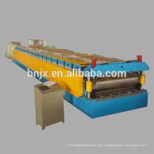 Máquina formadora de rolo de camada dupla, máquina de moldagem de rolo de painel de parede / painel de telhado de alta velocidade