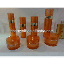 Straight round cosmetic packing plastic bottle