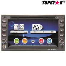 6.5inch doble DIN 2DIN reproductor de DVD de coche con sistema Wince Ts-2507-2