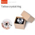 Réutiliser Crystal Tattoo Porte-Encre Anneaux Sourcils Maquillage Tatouage Pigments Encre Titulaire
