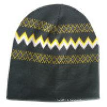 Bonnet tricoté avec tricoté en design NTD71