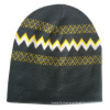 Knitted Beanie with Knitted in Design NTD71