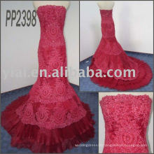 PP2398 newly design free shipping lace mermaid wedding gown 2011