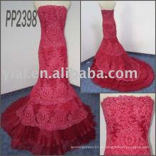 PP2398 recém-projetado vestido de casamento de sereia de rendas de entrega gratuita 2011