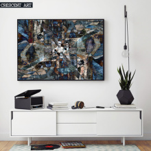 3D Texture Abstract Canvas Oil Painting