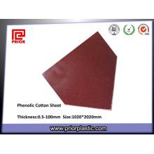 Feuille textolite de stratifié de coton phénolique de 3025