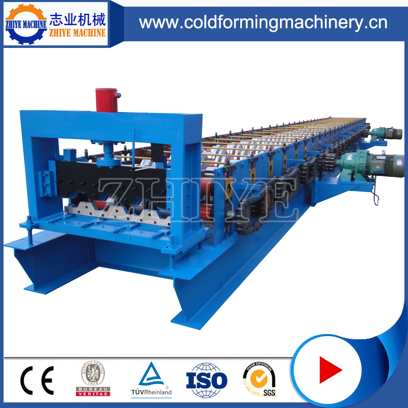 High Speed Steel Floor Decking Roll Forming Machine with train service