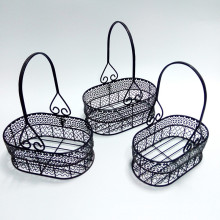 Metal Set Of 3 Iron Wire Basket