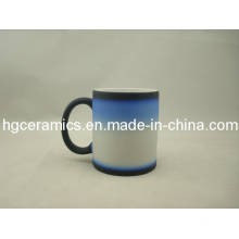 Three -Section Color Change Mug, Black-Blue-White
