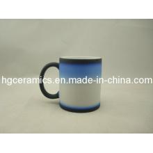 Three -Section Color Change Mug, Black-Blue-White