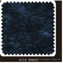 Pasta no tejida de color negro DOT Interlineado con polvo de PA (8018 negro)