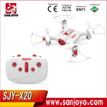 Nuevo Syma X20 MINI RC drone 2.4G 4CH modo sin cabeza 360 grados truco RC Quadcopter SJY-X20