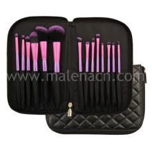 Beauty Cosmetics 14PCS Synthetic Makeup Brush Set with Bag