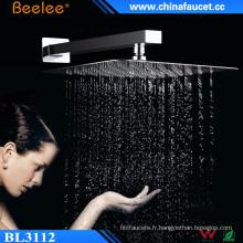 Pommeau de douche mélangeur rotatif de précipitations de plafond de salle de bains