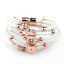 Wholesale personalized braided leather cord bracelet