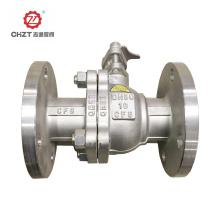 Válvula de esfera de plataforma com conexão flangeada