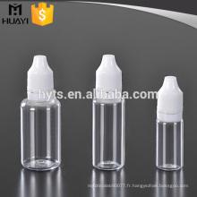 10ml 20ml 30ml animal de compagnie en plastique clair e bouteille de compte-gouttes liquide
