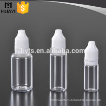 10ml 20ml 30ml plastic pet clear e liquid dropper bottle