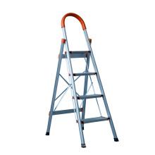 Escalera antideslizante de aluminio 2 pasos Escalera de 3 pasos con barandilla segura
