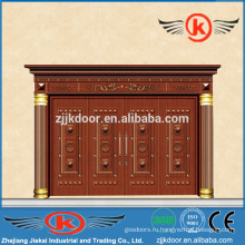 JK-C9020 коммерческая медная входная дверь с заводской ценой четырехстворчатая дверь