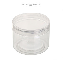 350ml Plastic Transparent Wide Mouth Sealed Pet Jar for kitchen Storage with Cover