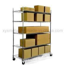 Prateleira de malha cromada prateleira de estante de rack de rack de serviço pesado