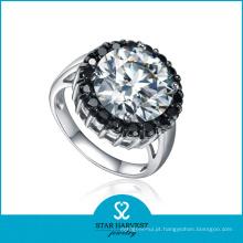 Jóias de moda prata chapeado anel CZ (SH-R0556)
