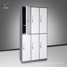High quality cold rolling steel cloth 6 doors metal locker