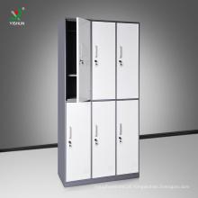 Alta qualidade de aço de laminação a frio pano 6 portas de metal armário