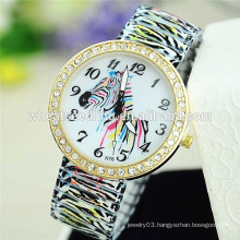 2015 delicate zebra alloy band watch wrist watch