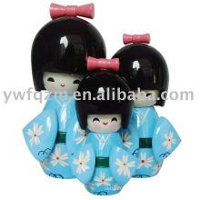 Muñeca japonesa de la decoración casera