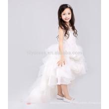 White A-Line Zipper Back Jupe Rosette Robe personnalisée en Fleur Vestidos FGZ41 Robe Enfant