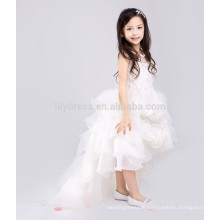 White A-Line Zipper Back Rosette Skirt Customized Flower Girl Dress Vestidos FGZ41 Children Dress
