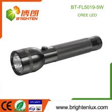 Factory Wholesale 2D cell Powered Aluminium Matériau Noir Couleur Police Bright Cree Q5 LED Japon Flashlight Torch