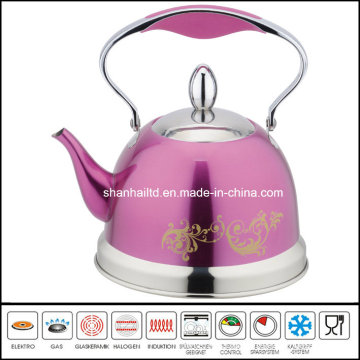 Color Coated Stainless Steel Whistle Kettle Kitchenware
