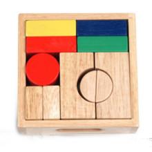 Набор деревянных геометрических блоков для детей
