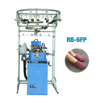 Computerized knitting machine equipment for plain socks