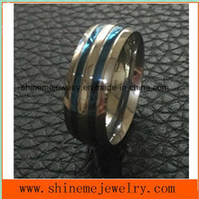 Blue Placted Comfortable Polishing Jewelry Finger Ring (SSR2696)
