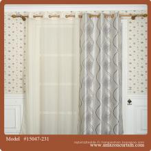 2016 nouveau design rideaux de polyester jacquard haut de gamme européens