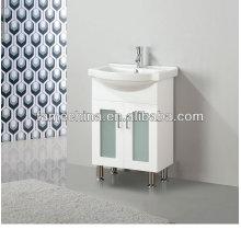 2013 puertas de cristal gabinete de baño blanco de 60 cm (FM-A600LG)