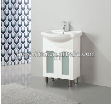 2013 Glass Doors White Bathroom Cabinet 60cm (FM-A600LG)